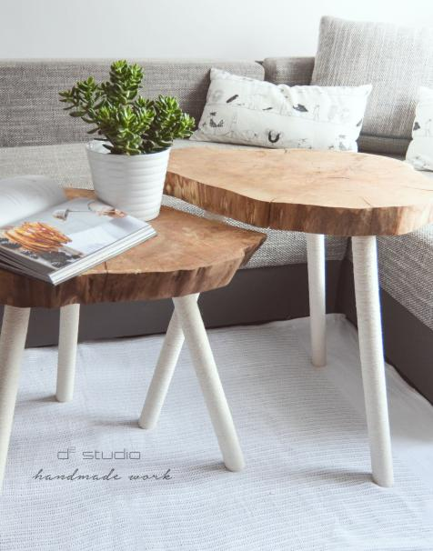 Pasja tworzenia niepowtarzalnych stolików i dekoracji