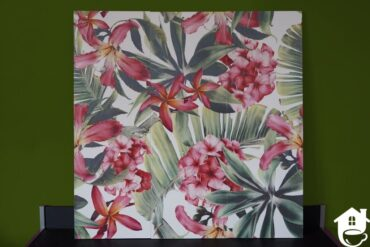 płytki ceramiczne ze wzorem kwiatowym
