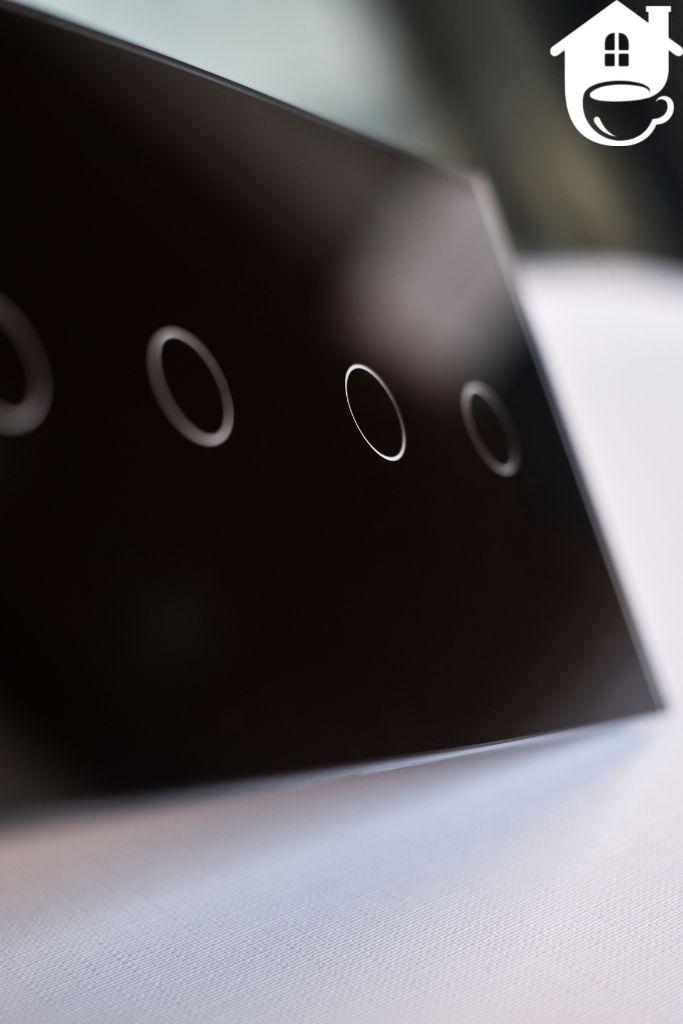 szklany dotykowy włącznik smart home podwójny
