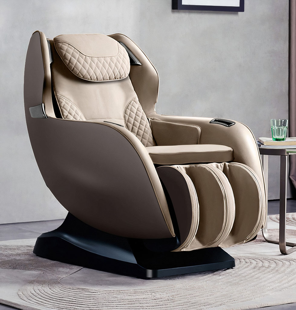 fotel masujący w kolorze beżowym