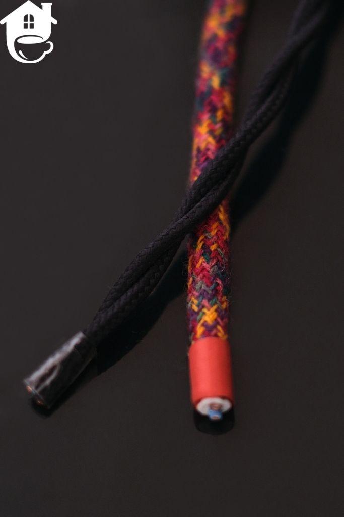 kolorowe kable melanżowe