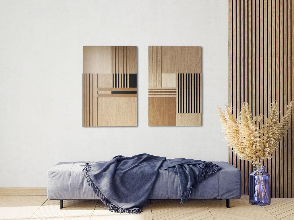 Obrazy z drewna pięknym zwieńczeniem każdego wnętrza