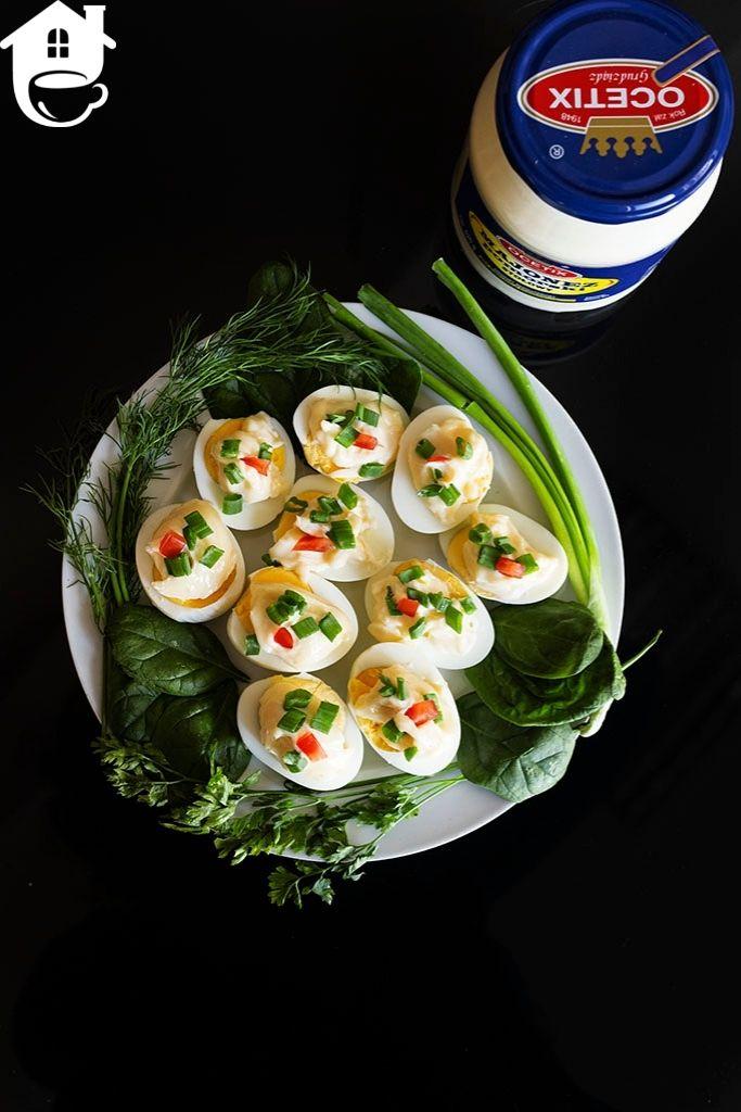 majonez pomorski na jajkach ugotowanych na twardo