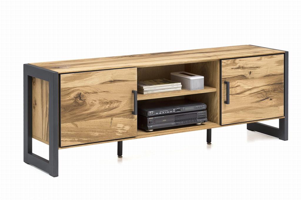szafka rtv pod telewizor wykonana z drewna