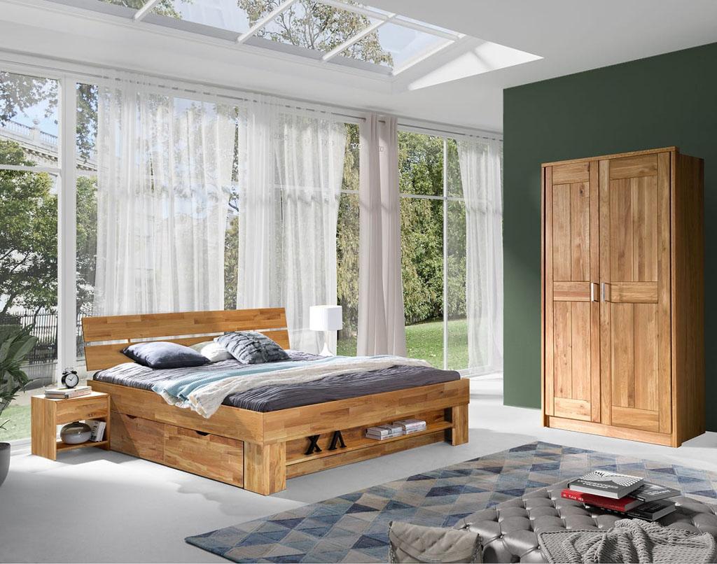 wyposażenie sypialni z drewna