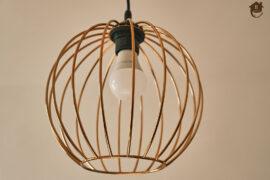 miedziana lampa kula
